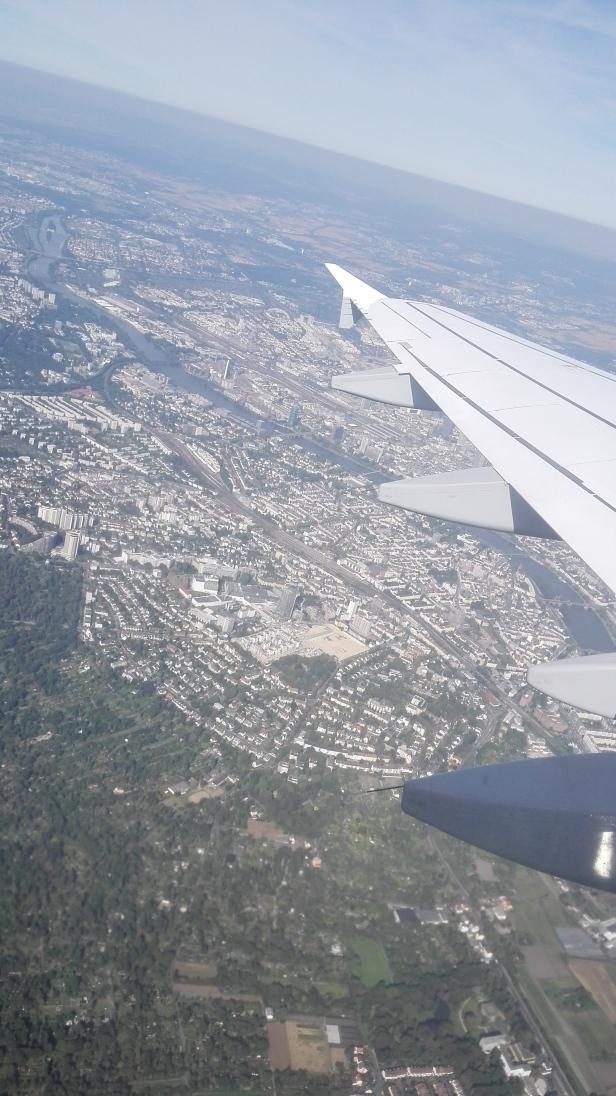 Aus dem Flugzeug beim Start in Frankfurt...